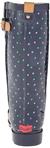 Chooka Womens Classic Dot Rain Shoe Blu