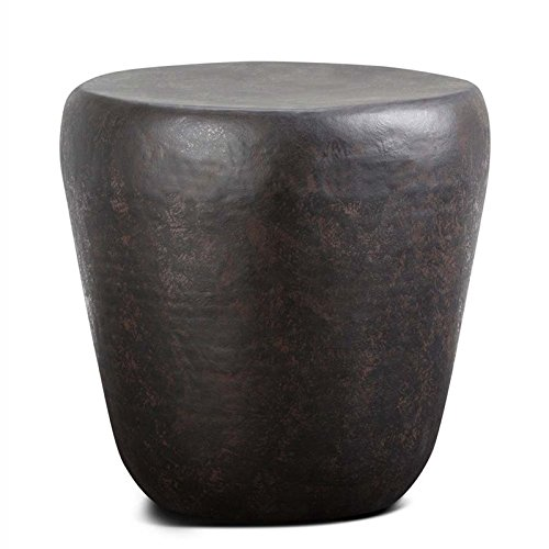 Simpli Home Garvy Metal Side Table, Rustic Bronze