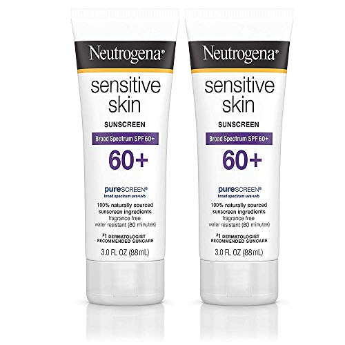 Sensitive Skin Sunscreen Lotion with Broad Spectrum SPF 60+, 3 fl. Oz (2 Pack)