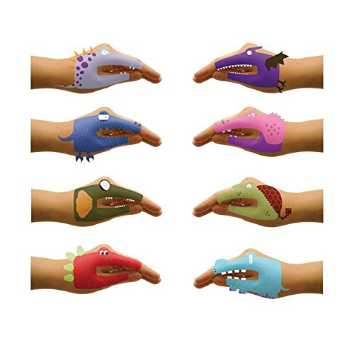 NPW Dino Hands Temporary Tattoos (8 Count) by NPW (Image #2)