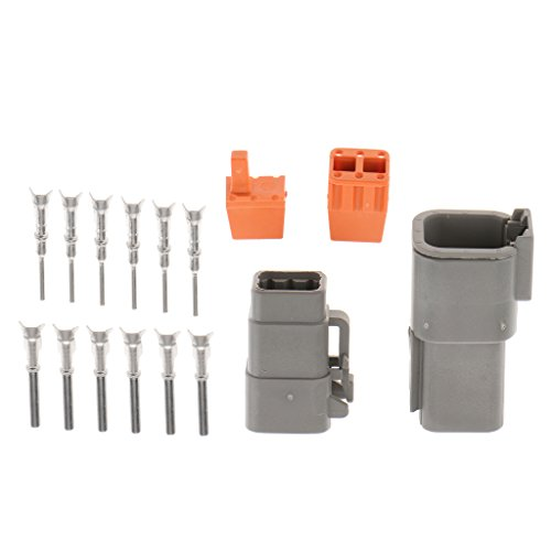 IPOTCH 1 Set 6Pin Way Car Motorbike Sealed Electrical Wire Connector Plug Kit 20A: