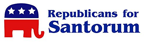 BuildASign Republicans for Santorum 2012 Election Rick Santorum Bumper Stickers