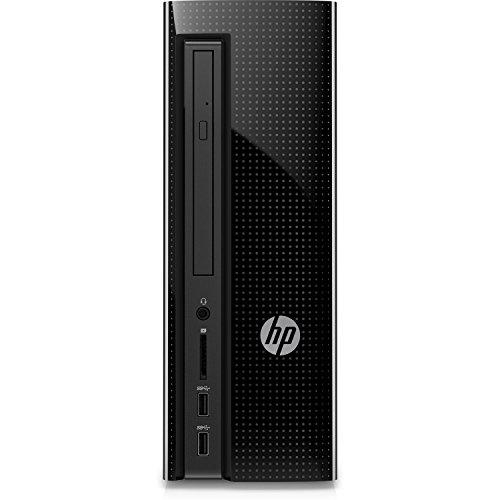 HP Slimline Desktop Computer, Intel Pentium J4205, 4GB RAM, 1TB hard drive, Windows 10 (270-a010, Black) (4 Ram Pentium)