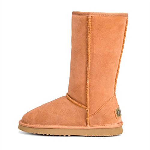 Leather AUSLAND Chestnut Tall Classic Snow Women's Boot UExEFqAw