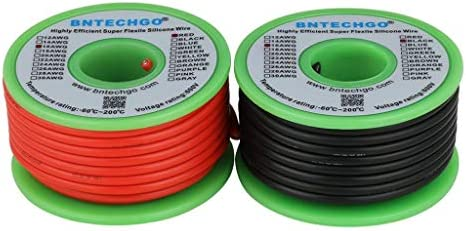10~30AWG Red HIGH TEMP Silicone Cable Super Flexible Wire Tin Copper US 0.08mm