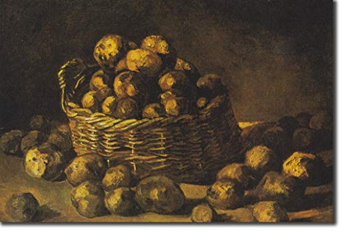 Introspective Chameleon Vincent Van Gogh - Basket of Potatoes (1885) - Classic Painting Photo Poster Print Art Gift - Willem Dutch Post-Impressionist - Size: 24 x 16 Inches (61 x 40.5 cm)