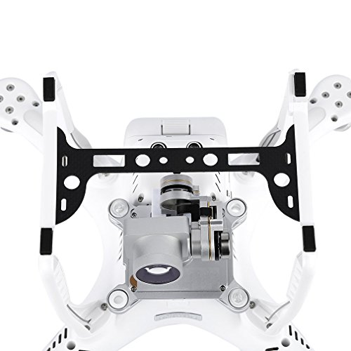 OxoxO(TM)UAV Full Carbon Plate Camera Gimbal Tripod Protection Board, Carbon Fiber Gimbal Guard for DJI - Protection Fibre