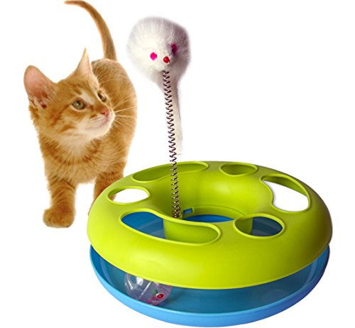 GPET Catch the Mouse Motion Cat Toy, 10 Inch 41SyrzFSC0L