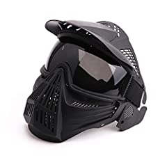 """Specifications:   Size: Full Face Mask. 9.4"""" * 9.8"""" (24*25 CM).    Material: Polycarbonate material and TPU plastic impact resistant composite offers full face and head protection.   Eyes protection: PC clear lenses or PC gray lenses..."""