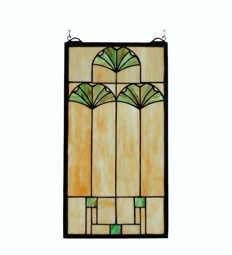 Meyda Tiffany Ginkgo Window Panel ()