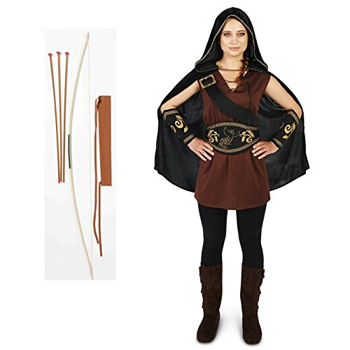 [The Huntress Adult Costume Medium Bow and Arrow Bundle Set] (The Huntress Arrow Costume)