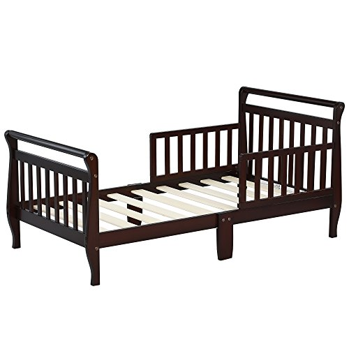 Dream On Me Classic Sleigh Toddler Bed - Espresso - Espresso Sleigh Bed
