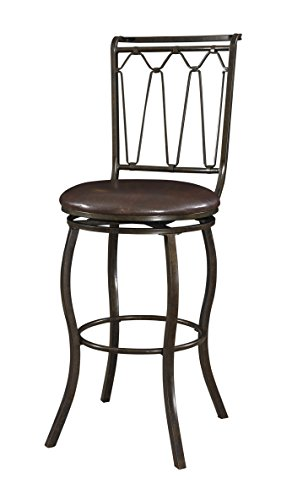 Powell Company Metal Big/Tall Bar Stool - Powell Brown Bar Stools