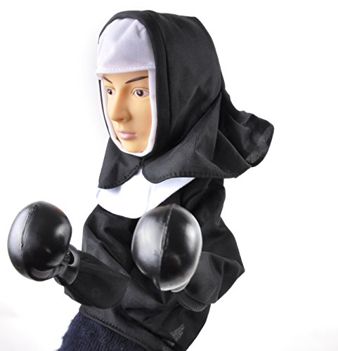 Accoutrements The Punching Nun Puppet ,13 inches ,Multi-colored