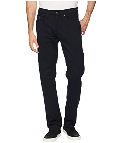 U.S. Polo Assn. Men's Slim Straight 5 Pocket Stretch Twill Jean, Black, 33Wx32L (Jeans Black Twill)