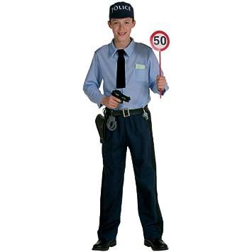 Panache Blanc - Disfraz de policía para niño, talla 6-8 años ...