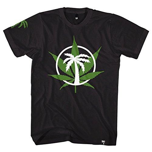 BLVD Supply Men's Weed Circle SS T Shirt Black