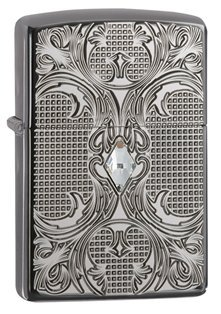 Zippo Armor Crystal Lattice Pocket Lighter, Black Ice ()