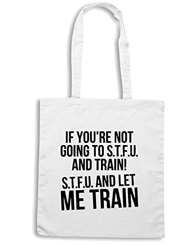 Bianca Shopper ME AND TRAIN OLDENG00256 STFU Speed Shirt LET Borsa YxcEw8SSqt