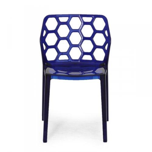 GARAGEEIGHT 1013003 Stuhl Honeycomb, 2-er set, blau