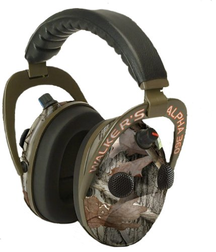 WALKERS GAME EAR GWP-AM360NXT Alpha Power Muff Quad 360 Camo Headphones with Microphone electronic consumer (Muffs Walkers Power Quad)