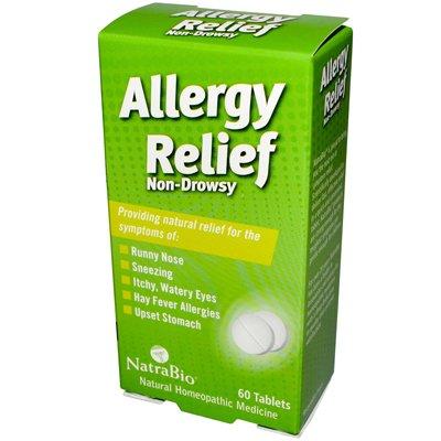 Natrabio Allergy Relief Non-Drowsy - 60 Tablets - Pack Of 1 Natra Bio Allergy Relief Non Drowsy Tablets