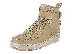 Nike Men's Sf Af1 Mid Mushroommushrooom Light Bone Basketball Shoe 10 Men Us