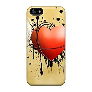 New Premium Case Cover For Iphone 5/5s/ Heart Protective Case Cover
