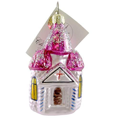 Christopher Radko CHAPEL CHARM Glass Ornament Religious Church ()