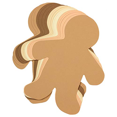 Hygloss Products Kid Shape Cuts Outs - 16 Inch Assorted Multi-Cultural Paper, 25 Pack]()