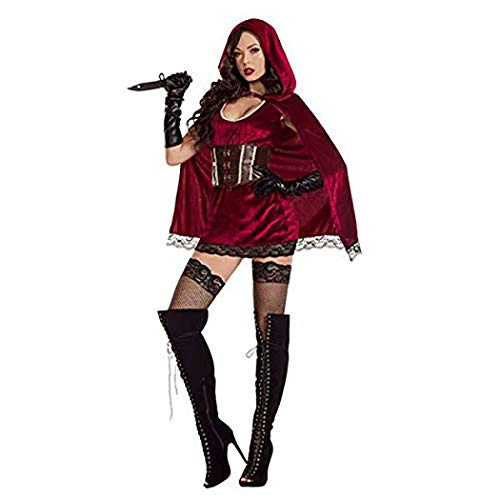 (Little Red Riding Hood Halloween Costumes for Women Princess Adults Fancy Dress Costume for Cape Girl Kids Kid)