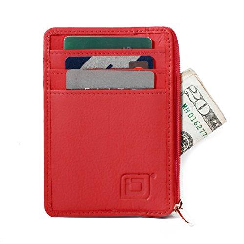 RFID Blocking Secure Mini Wallet - (Red Mens Wallet)