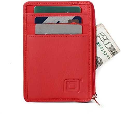 RFID Wallet Mini for Men and Women - Genuine Leather - Best RFID Blocking Slim Wallet to Stop Electronic Pickpocketing - Minimalist Wallet