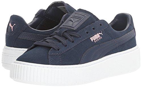 PUMA Girls' Suede Platform Jr Sneaker, Peacoat-Peacoat, 4.5 M US Big Kid by PUMA (Image #6)