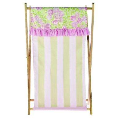 Bacati - Flower Basket Pink/Green Hamper (Bacati Flower Basket)