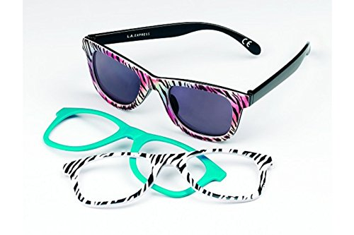 Foster Grant Surge Daisy Sunglasses With Interchangeable Fronts [100% Uva - Sunglasses Surge