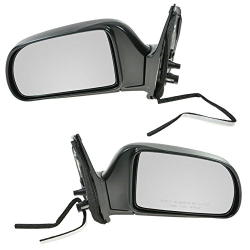 Manual Side View Door Mirrors Left & Right Pair Set of 2 for 98-03 Toyota Sienna ()