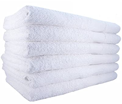 Bath Towels by MIMAATEX-6 Pack-White 100% Cotton 24x50 Inch Bath Towels