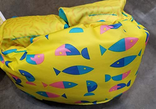 Speedo Kids' UPF 50+ Begin to Swim Printed Neoprene Swim Vest (Yellow) (Swim Paddle Straps)