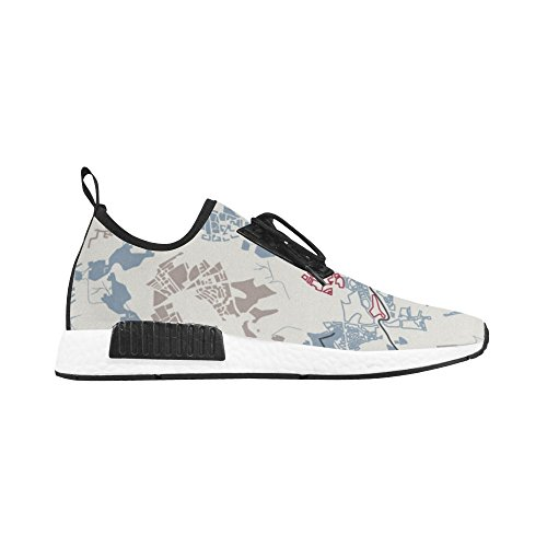 Blue Pattern Abstract Draco Trainer InterestPrint Running Sneakers Men Shoes Fitness qTgHw