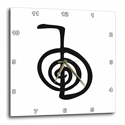 3dRose dpp_154526_2 Reiki Power Symbol Cho Ku Rei Choku Rei for Protection Cleaning Clearing Energy Boosting Healing Wall Clock, 13 by (Cho Clock)