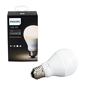 philips 455295 hue white a19 single led bulb works with amazon alexa hue bridge required. Black Bedroom Furniture Sets. Home Design Ideas