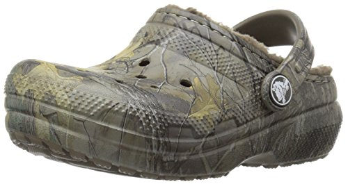 Crocs Classic Realtree Xtra Lined Clog (Toddler/Little Kid), Chocolate/Chocolate, 12 M US Little Kid