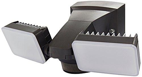 LM1802BZ LED Motion Security Light,180 Motion Sensor, 1500 Lumens, Dual Head, Hi-LO Brightness Bronze