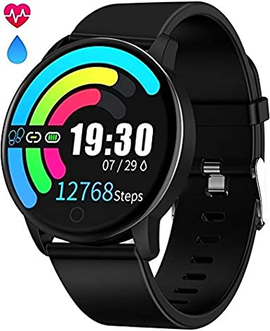 Smart Watch Waterproof IP68 Fitness Tracker Smartwatch with Heart Rate Monitor for Android Phones Activity Tracker Calorie Burn, Sleep Monitor, Sport ...