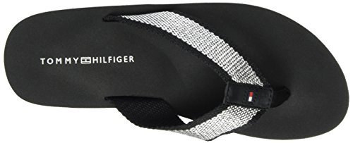 Tommy Hilfiger M1285imi 3d, Sandalias de Punta Descubierta para Mujer Negro (Black 990)