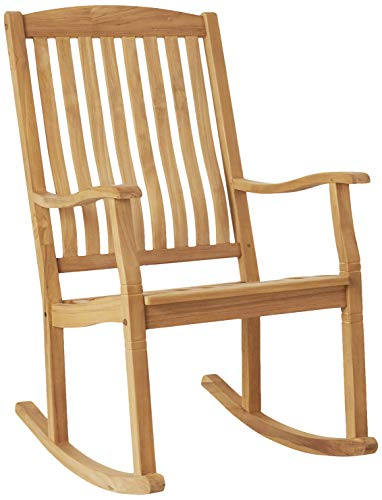 Cambridge-Casual AMZ-130574T Arie Teak Rocking Chair, Natural