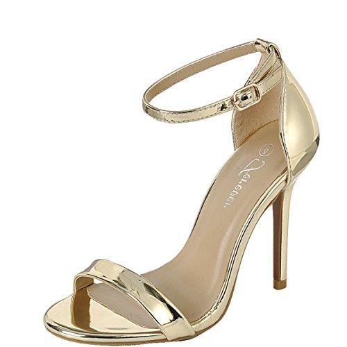 Forever Link Passion-86 Lady Dress Sandals Gold 1s9jGQ7i