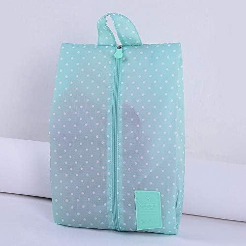 QUAN Storage Bag 便利なジッパークロージャーシンプルな2 PCS Multipattern防水ナイロンポータブルトラベル収納袋(サファイアの花) (色 : Green Dots)