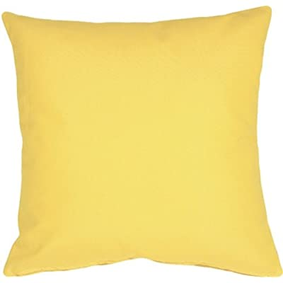 PILLOW DÉCOR Sunbrella Buttercup Yellow 20x20 Outdoor Pillow: Home & Kitchen